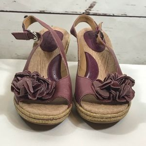 6929327862b9 Born Shoes - Born Concept B.O.C Burgundy Leather Wedge Sandal 6